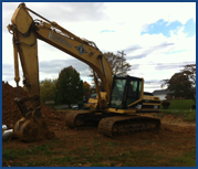Excavator operations, Cumberland County PA